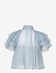 Custommade - Obia - kortærmede bluser - dusty blue - 1