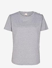 Custommade - Molly Pearl - t-shirts - grey melange - 0
