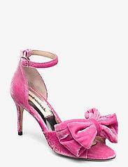 Custommade - Marita Velvet - sandalen met hak - fuchsia pink - 0