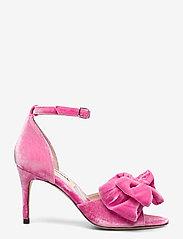 Custommade - Marita Velvet - sandalen met hak - fuchsia pink - 1