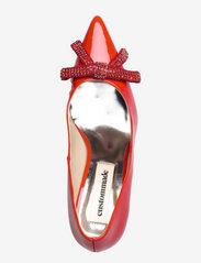 Custommade - Aljo Patent Crystal Bow - klassiska pumps - persian red - 3