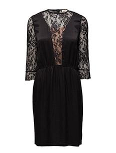 Iwona w. slip dress - ANTHRACITE BLACK