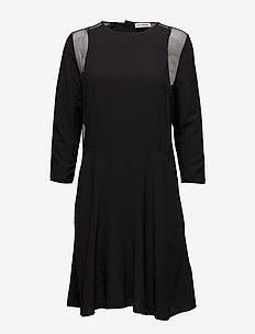 Bahja - midi dresses - anthracite black