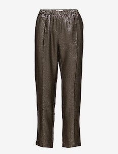 Briane - wide leg trousers - metallic brocade