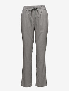 Marka - straight leg trousers - grey melange