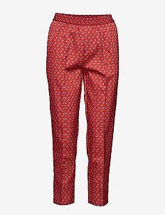 Tenna - straight leg trousers - ketchup