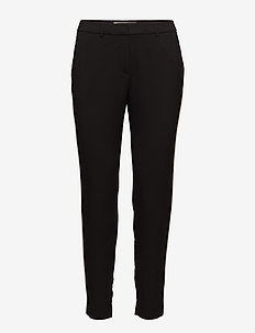 Muno pipping - straight leg trousers - anthracite black