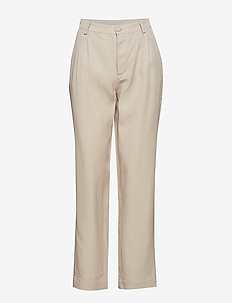 Ulricca - straight leg trousers - toasted almond