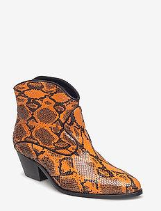 Angel Snake - ankle boots with heel - vermillion orange
