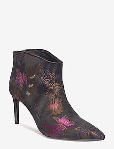 Aeja Jacquard - ankle boots with heel - anthracite black