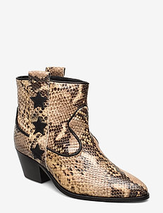 Amie - ankle boots with heel - vanilla