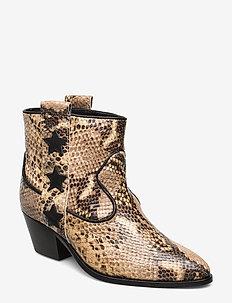 Amie - ankelstøvler med hæl - vanilla