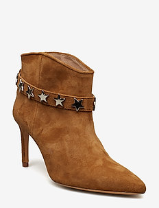 Assie suede - ankle boots with heel - camel
