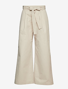 Anelle - wide leg trousers - cement
