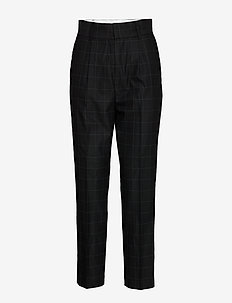 Fifi BY NBS - straight leg trousers - anthracite black