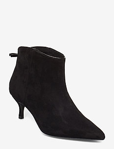 Casie Suede - ankle boots with heel - anthracite black