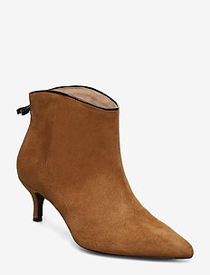Casie Suede - ankle boots with heel - camel