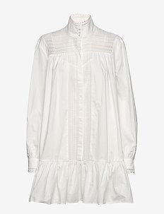 Elorie - shirt dresses - whisper white