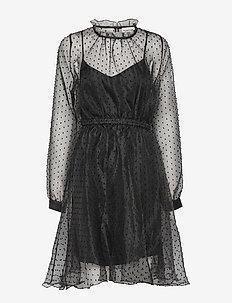 Vira - midi dresses - anthracite black