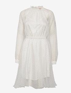 Vira - midi dresses - whisper white