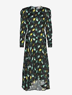 Sanja - midi dresses - anthracite black