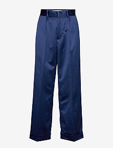 Thille - wide leg trousers - estate blue