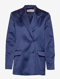 Madelin Satin - oversize kavajer - estate blue