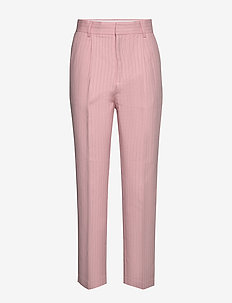 Fifi - spodnie proste - coral pink
