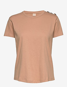 Molly Crystal - t-shirts - indian tan khaki