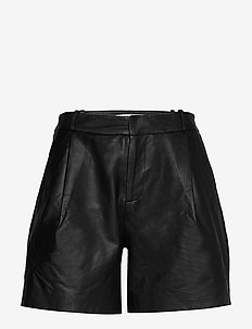 Mahiam - leather shorts - anthracite black