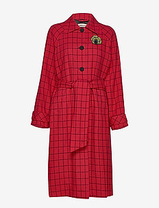 Vilda - wool coats - chinese red