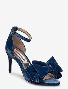 Marita Velvet - højhælede sandaler - midnight navy