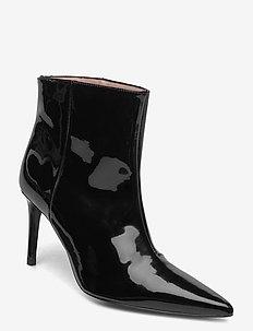 Abbysa - ankelstøvler med hæl - anthracite black