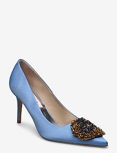 Aljo Crystal - klassiska pumps - chambray blue