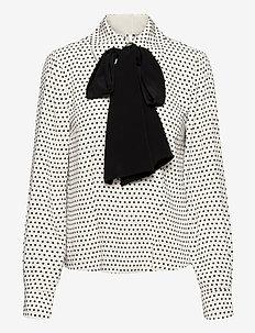 Gilla BY NBS - blouses med lange mouwen - whisper white