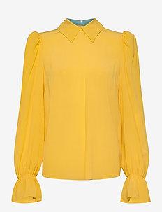 Nicole - blouses med lange mouwen - golden rod