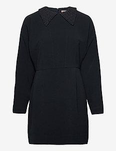Paris - midi dresses - anthracite black
