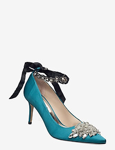 Aljo Wing - klassiska pumps - teal
