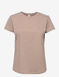Molly Pearl - t-shirts - fungi brown