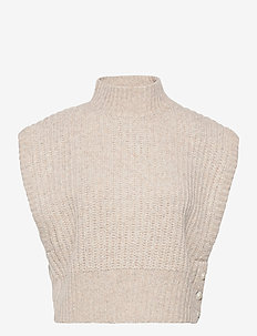 Elfi - knitted vests - fungi brown