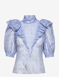 Ofelia BY NBS - kortärmade blusar - powder blue