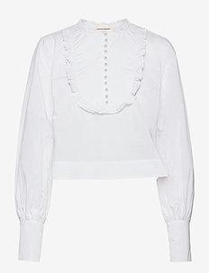 Drine - långärmade blusar - bright white