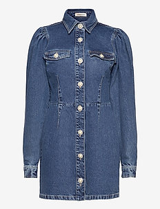 Larin - skjortklänningar - dark denim