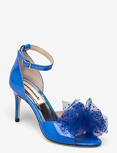 Marita Bow - peeptoes - royal blue