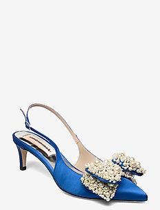 Alima Pearl - sling backs - royal blue