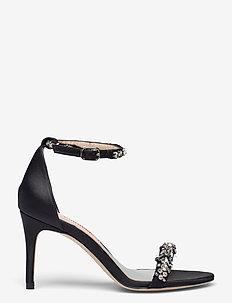 Maggie Crystal - högklackade sandaler - anthracite black