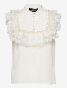 Delfina BY NBS - blouses zonder mouwen - whisper white