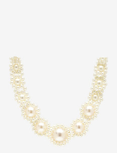 Zoey Pearl Necklace - colliers - whisper white