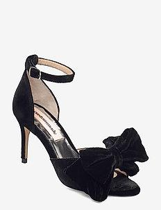 Marita Velvet - højhælede sandaler - anthracite black