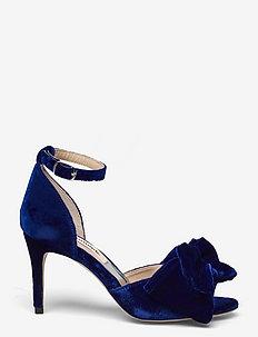 Marita Velvet - högklackade sandaler - royal blue